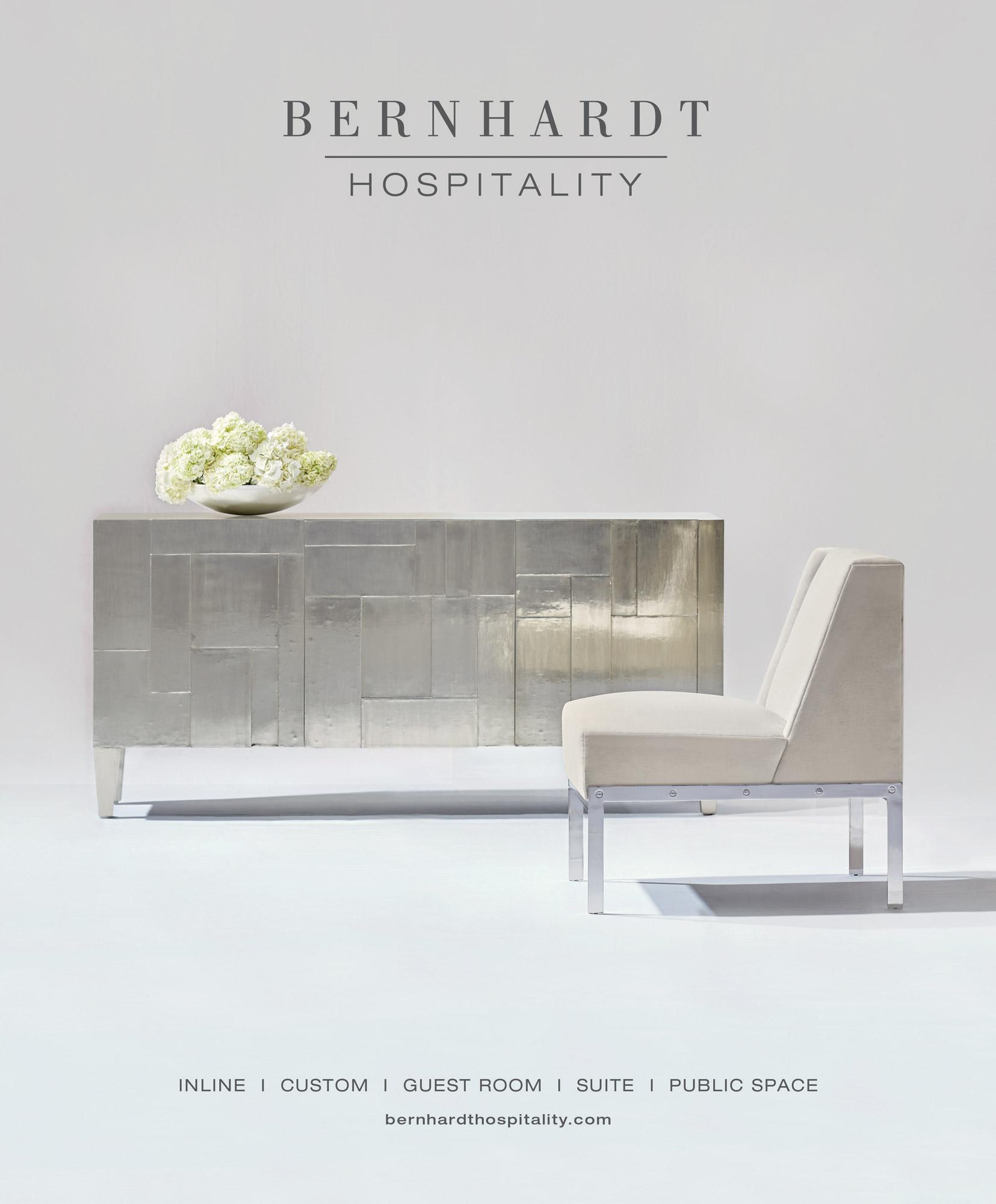 bernhardt logo. magazine ads bernhardt logo